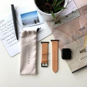 Leather Apple Watch Band - Pin & Buckle